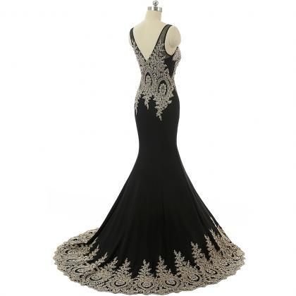Black Prom Dresses,Arabic Evening D..