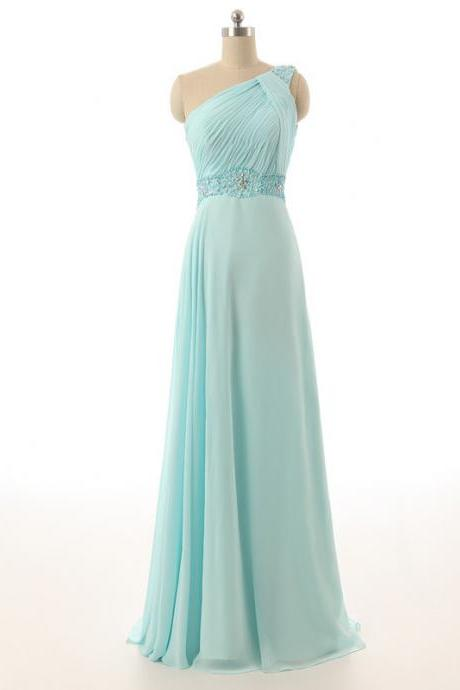 One Shoulder Bridesmaid Dresses,Mint Green Bridesmaid Dresses,Cheap Maid Of Honor Dresses