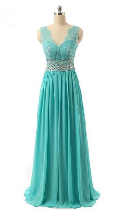 Turquoise Prom Dresses,Lace Prom Dresses,Evening Dresses 2018,Formal Women Party Dress