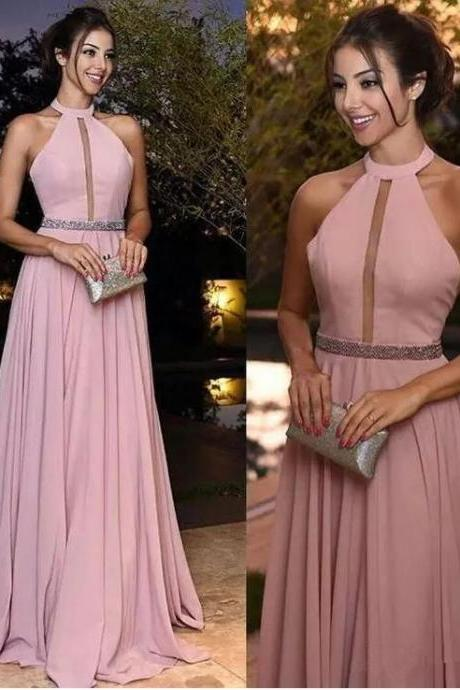 Pink Prom Dress,Prom Dresses Long 2019,Evening Gowns,Formal Dress,A Line Long Prom Dress,Banquet Dress
