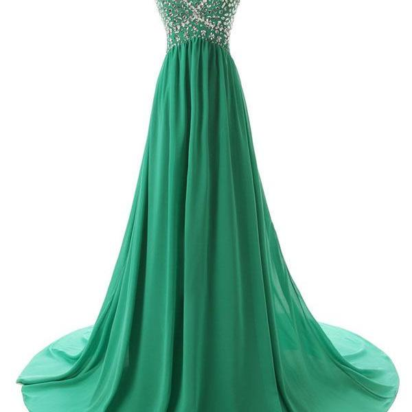 Green Prom Dresses,Real Photo Prom Dresses,Sweetheart Formal Dress,Beaded Evening Gowns
